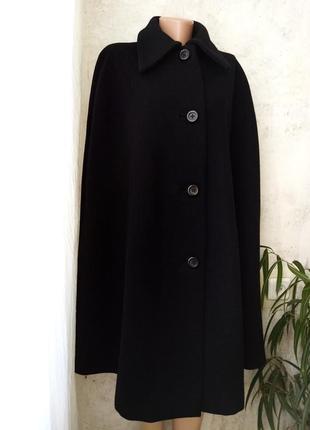 Пальто кейп, пальто без рукавов, шерсть, ручная работа, нюанс