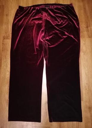 🔥🔥🔥красивые велюровые, бархатные женские брюки, штаны 26 р. essence🔥🔥🔥