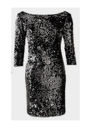 Нарядное сверкающее бархатное платье в пайетках esmara