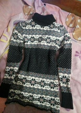 Новогодний женский свитер туника