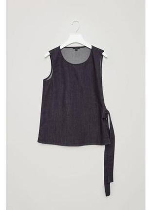 Cos жилет блуза трансформер 100% хлопок деним