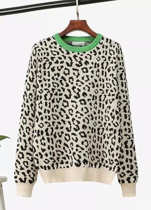 Джемпер , свитер леопардовый принт