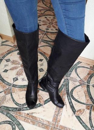 Ботфорты tamaris, натуральная кожа, флисовое утепление