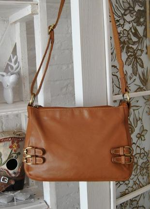 Кожаная сумка кроссбоди clarks / шкіряна сумка