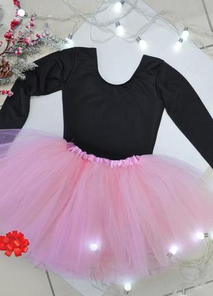 Комплект для танцев / юбка фатиновая и купальник / юбка пачка и купальник