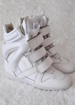 Сникерсы ботинки isabel marant оригиналы натуральная кожа isabel marant