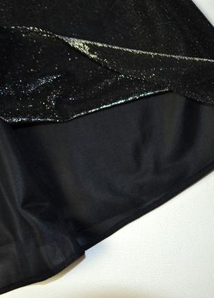 Расклешенное платье на бретельках с люрексом переливающее3 фото