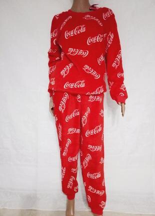 Теплая женская пижама coca-cola, кока-кола
