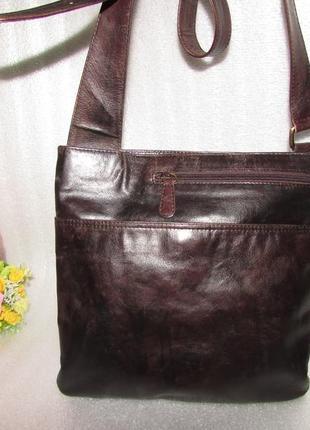 Мужская сумка 100% натуральная кожа =genuine leather=индия