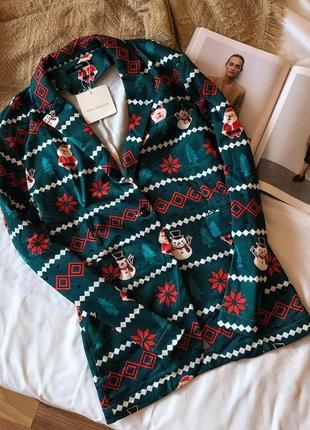 Новый новогодний пиджак жакет zaful pp л-хл