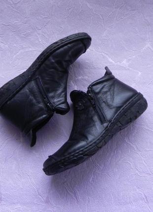 Ботинки демисезонные кожаные 36 размер 23 см стелька