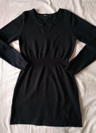 Черное теплое платье тм mango, размер s