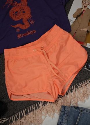 Оранжевые спортивные шорты 36 с размер h&m