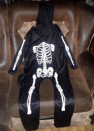 Костюм скелет бренд speedo на 7-10 лет хэллоуин