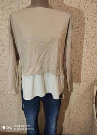 Трикотажная блуза обманка 46-48 размер