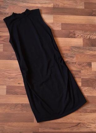Черное стильное качественное платье для беременных размер m