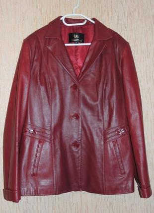 Женский кожаный пиджак 54 размер турция