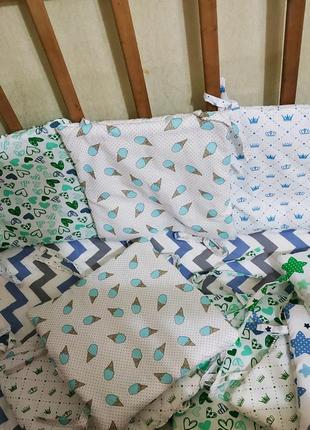 Бортики в детскую кроватку, защита, бампер.