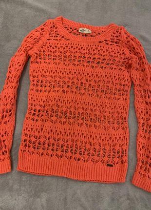 Ажурный свитер, паутинка американского бренда hollister