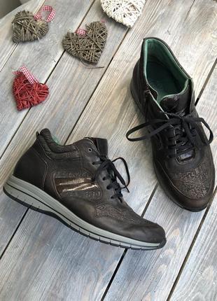 Durea кожаные ботинки на шнуровке, демисезонные кроссовки