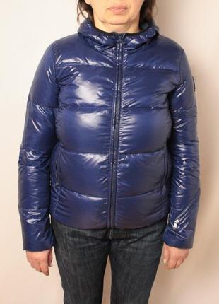 Куртка calvin klein пуховик синяя зимняя оригинал размер м