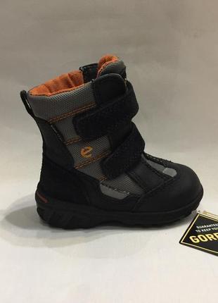 Ботинки зимние сапожки черевики ессо gore-tex р. 22 (14см) в идеале