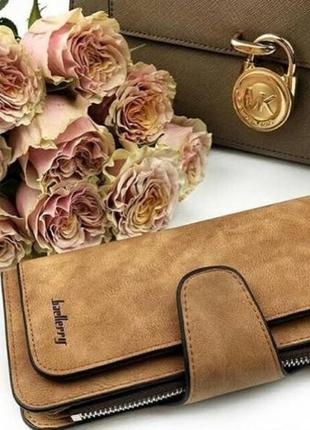 💥качества - цена🔥/ шикарный стильный замшевый кошелек портмоне baellerry / клатч