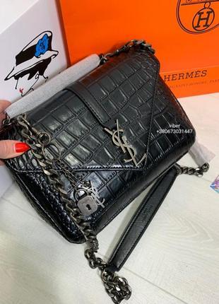 Сумка кожаная клатч кожаный сумочка женская черная