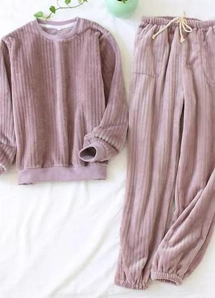 Женская пижама, домашний костюм, пижама, теплая пижама