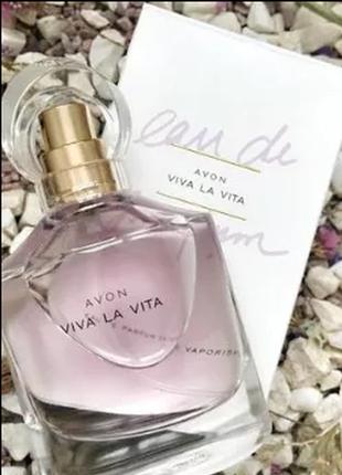 Шикарный цветочный парфюм viva la vita от avon распродажа 50 мл флакон