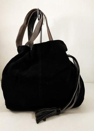 Замшевая сумка valensiy