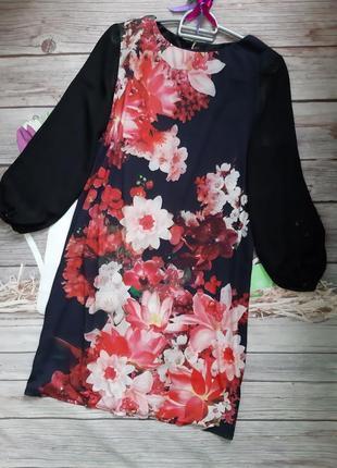 Стильное платье прямого кроя