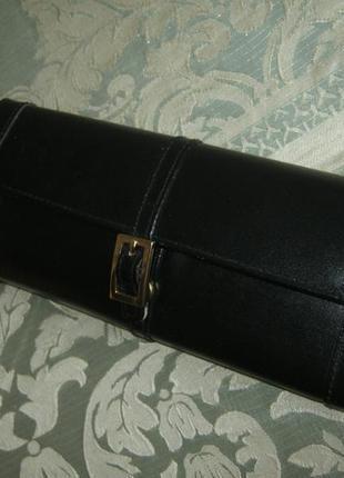 Новый (бирка отсутствует) большой кожаный кошелек-чехол натуральная кожа