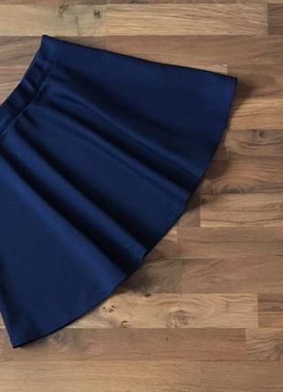 Синяя фактурная юбка размер m