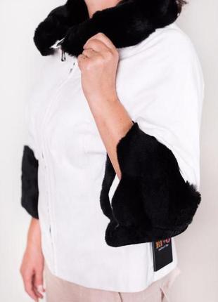 Sale! кожаная курточка с натуральным мехом на осень.