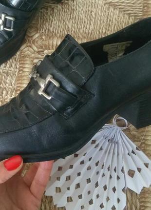 Кожаные  ретро винтажные туфли