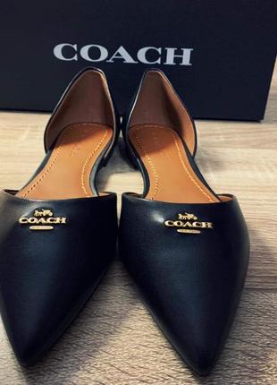 Новые кожаные туфли coach