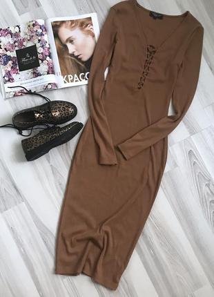 Красивое платье в рубчик, платье лапша, платье мили по фигуре