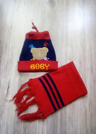 Комплект шапка+шарф. акция!!!! 1+1=3