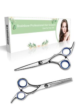 Набор парикмахерских ножниц 6.0 дюймов (прямые и филировочные) в коробке