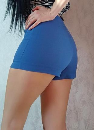 Шорты с завышенной талией от asos / синие шортики короткие