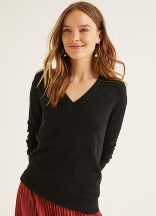 Черный кашемировый свитер джемпер пуловер 100% кашемир