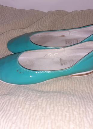 Кожаные туфли балетки constanta 32р.