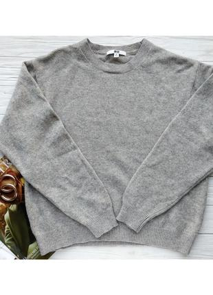 Шерстяной свитер светр джемпер свитшот 100% шерсть uniqlo uni qlo