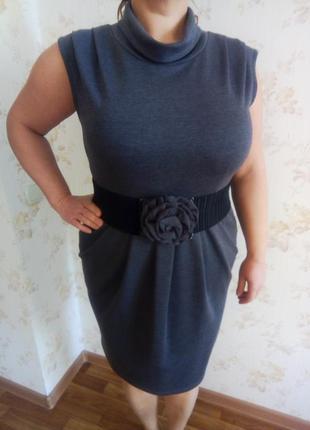 Нарядное серое платье helena