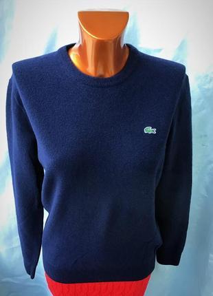 Фирменный синий пуловер от lacoste