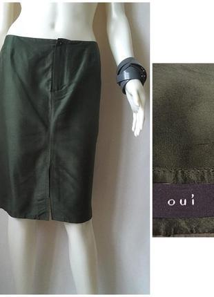 Oui шелковая лаконичная юбка