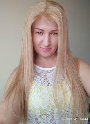 Новый парик люкс качества из натуральных  словянских  волос!