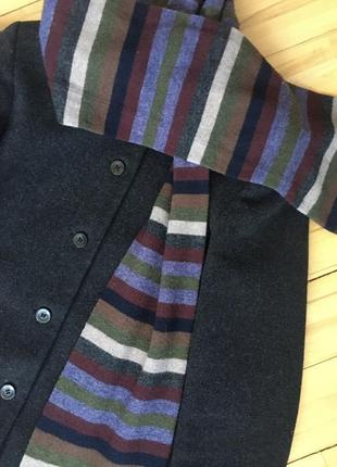 Стильный, шерстяной шарф в полоску dehavilland