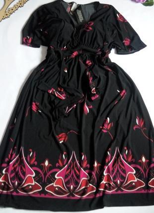 Платье миди бюстье нарядное офисное 50  размер новогоднее